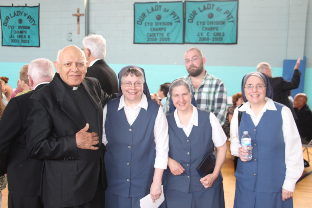 Brother Al of the Society of St. Paul with Sr. Sophie, Sr. Patricia and Sr. Christine of the Daughters of St. Paul