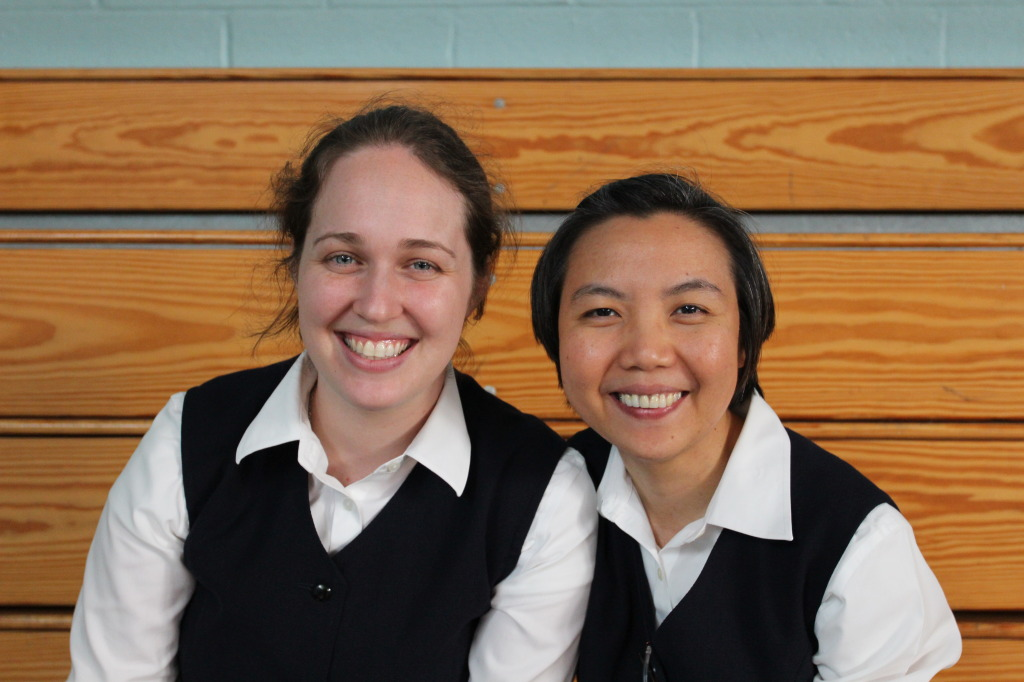 Sr. Carly and Sr. Cheryl, novices with the Daughters of St. Paul