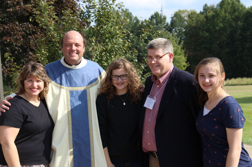 Fr. Michael with the Burke Family