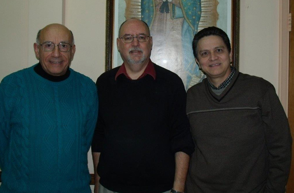 Delegates from Society of St. Paul Province in the United States: L to R Brother Dominic Calabro, Fr. Matthew Roehrig, Fr. Arcangel Cardenas