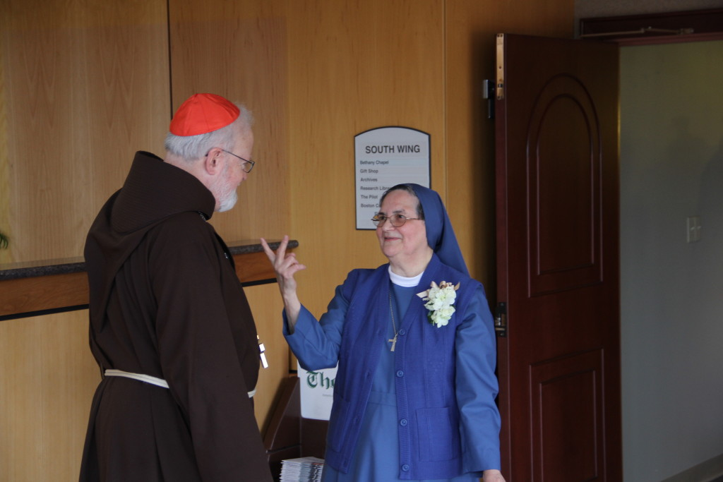 Sr. Michelle Hernandez, PDDM with Cardinal Sean O'Malley, OFM Cap.