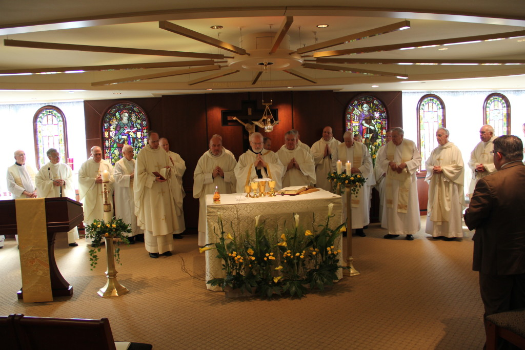 Cardinal Sean and concelebrating priests at Sr. Michelle's jubilee celebration