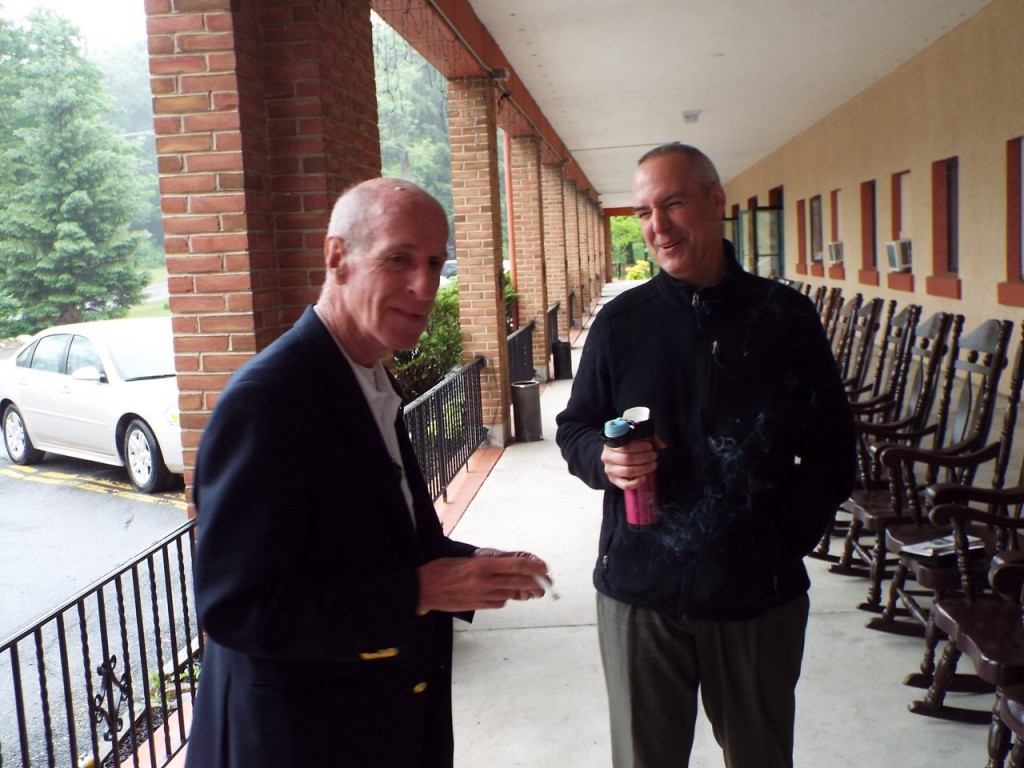 Brother Pete and Fr. Ed having a laugh
