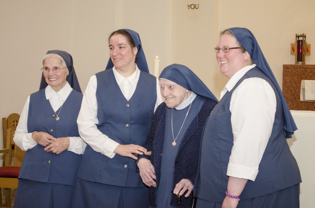Jubilee sisters: Sr. Mary Agnes 60 years; Sr. Mary Jerome 25 years; Sr. Mary Augusta 75 years; Sr. Hosea Marie 25 years