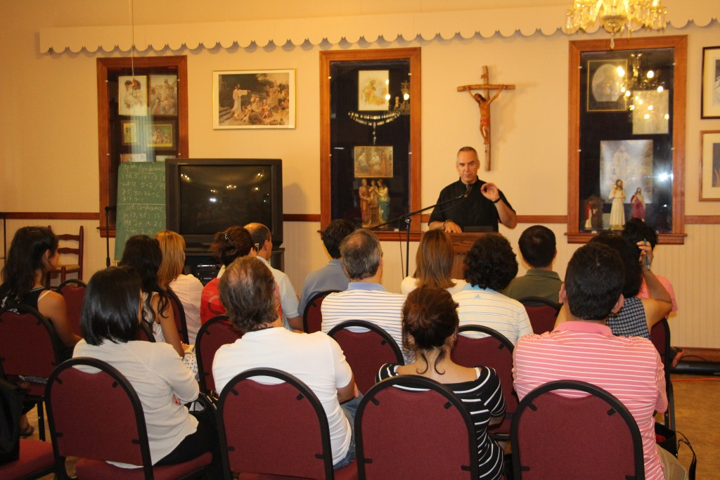 Fr. Edward Riley presenting to the adults