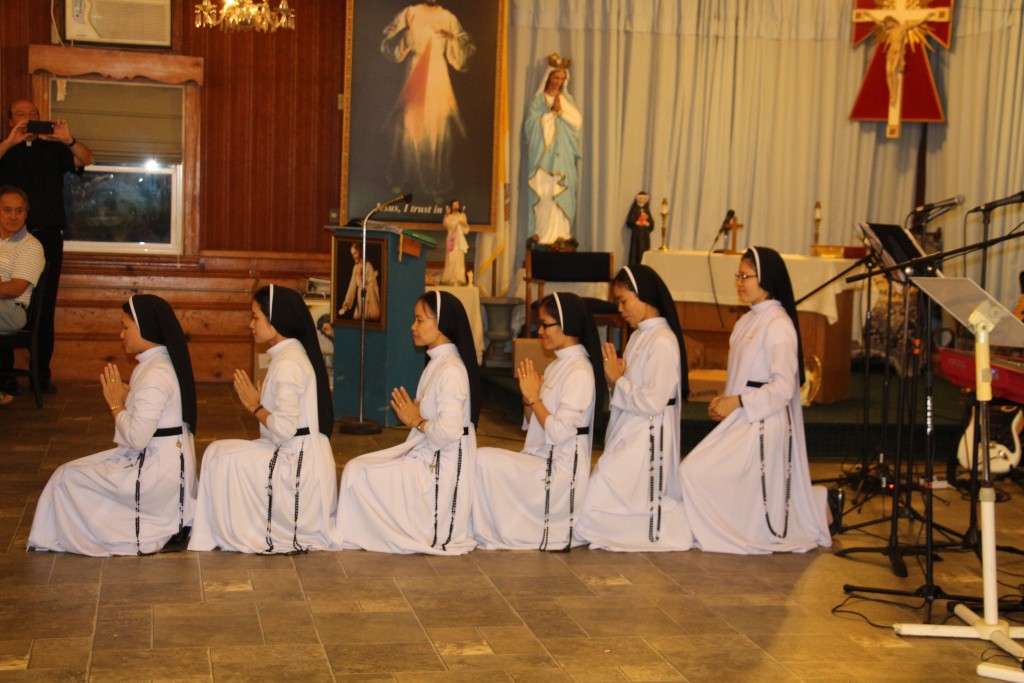 Vietnamese Dominican sisters dancing during the talent show