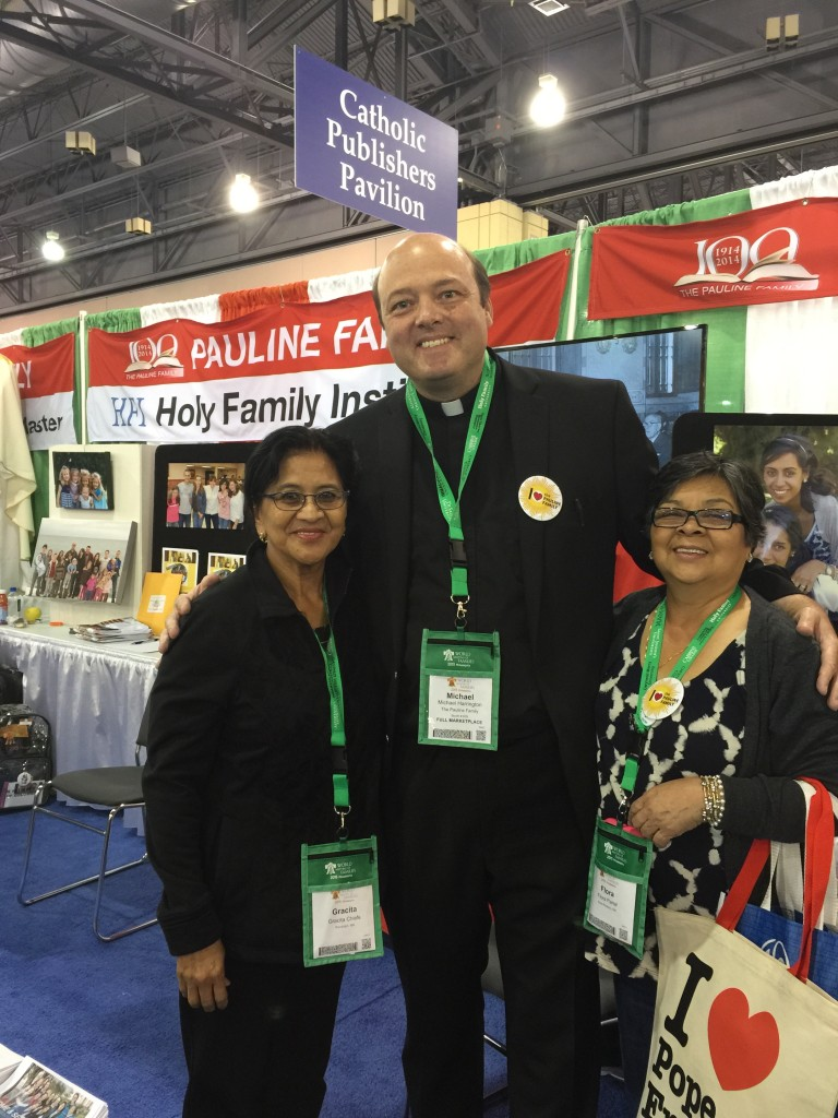 Fr. Mike Harrington, Institute of Jesus the Priest meets with members of the Filipino community