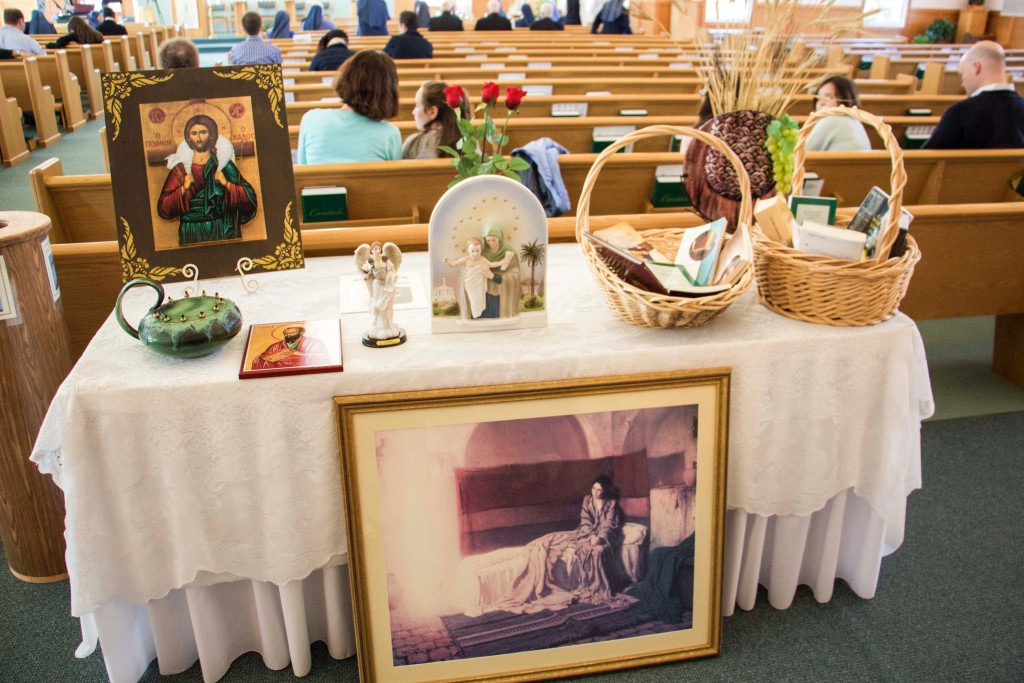 Offertory Procession gifts