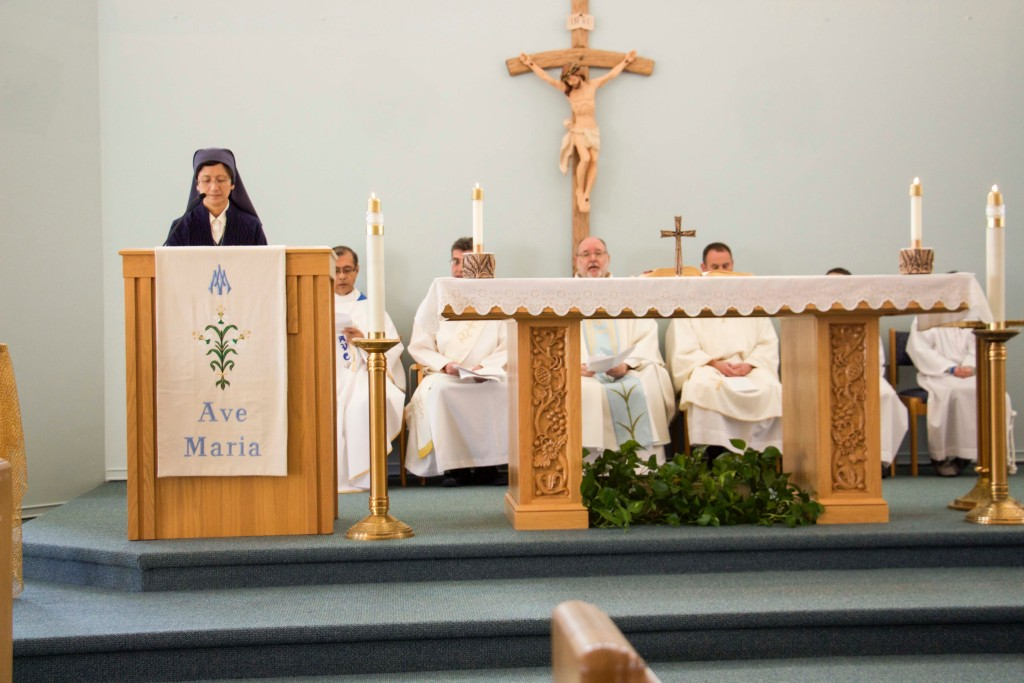 Sr. Margaret Timothy offers the First Reading
