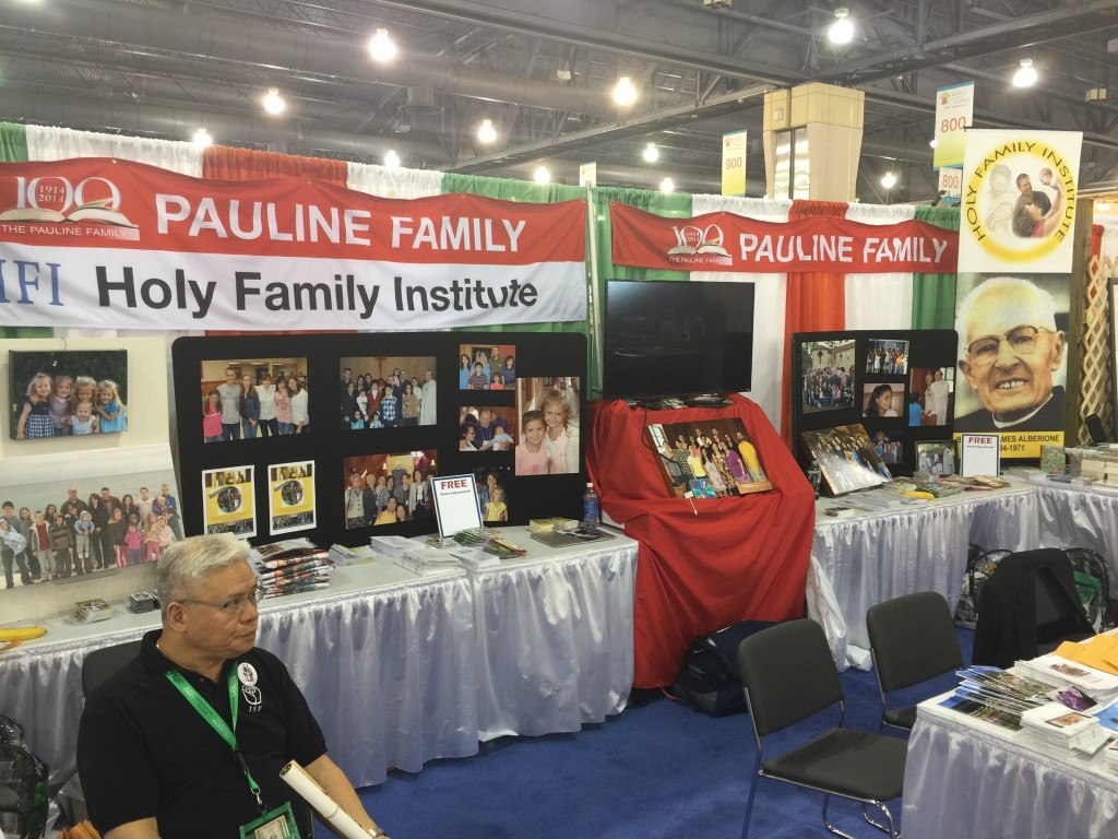 Holy Family Institute Booth and Pauline Vocation booth at the World Meeting of Families Exhibit Hall