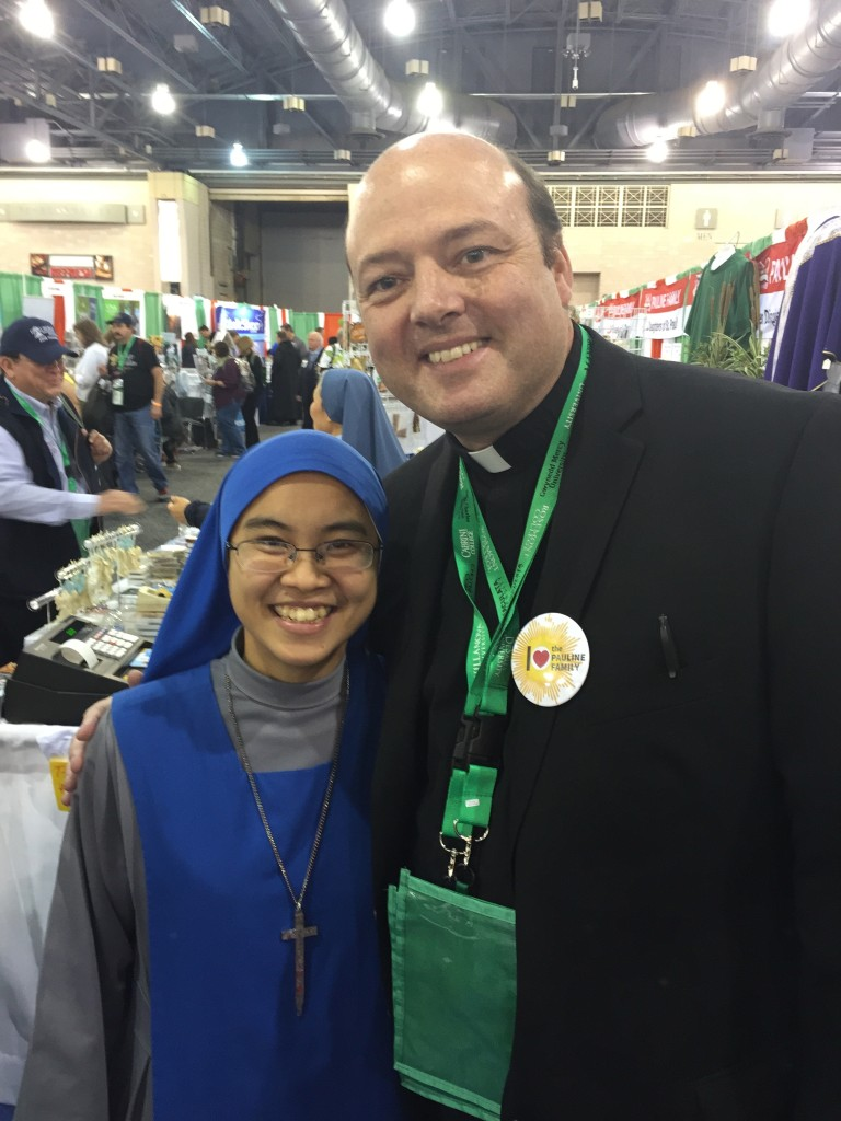 Fr. Michael with Lulu Ruperto's daughter